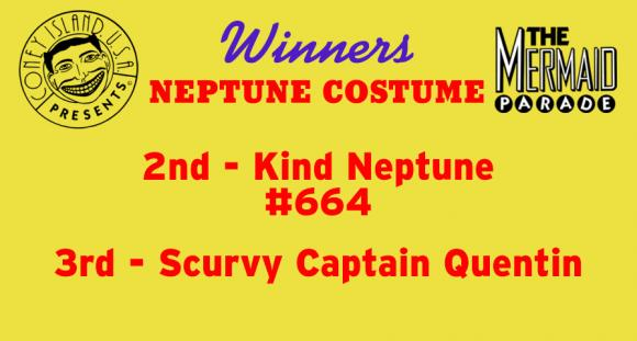 2 - King Neptune (#664) / 3 - Scurvy Captain Quentin